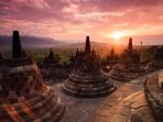 Sunset Candi Borobudur