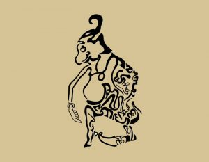 "Kaligrafi Aksara Jawa ""sareh pakoleh,sapa temen tinemu""."