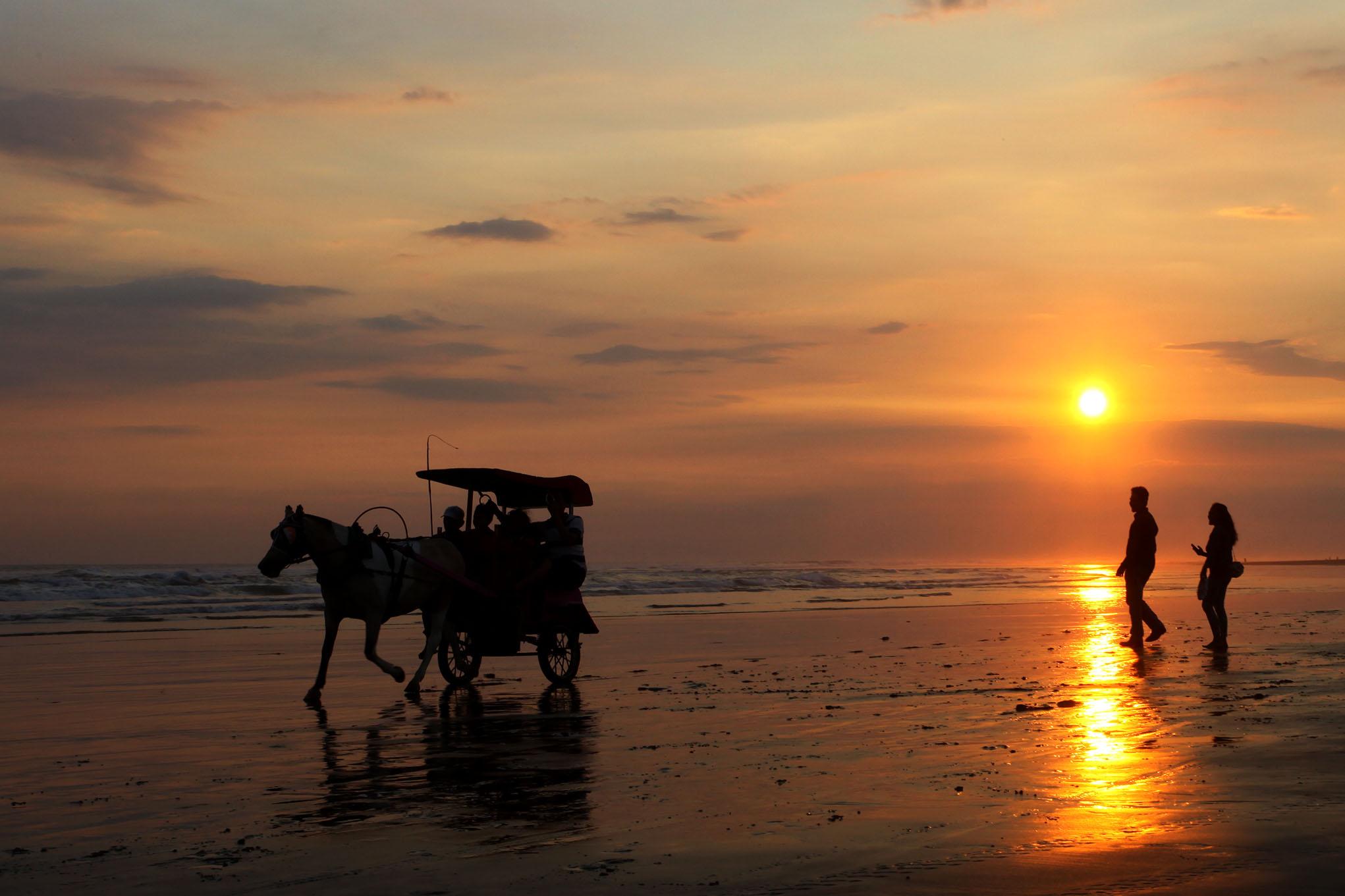 Sunset Parangtritis Beach